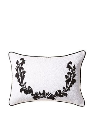 60% OFF Amity Home Damask Bolster Pillow, Ivory/Black