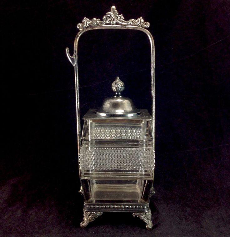 Пул посеребренный рама и стекло бутылки с огурцами канистра антикварные старинные декоративные | eBay