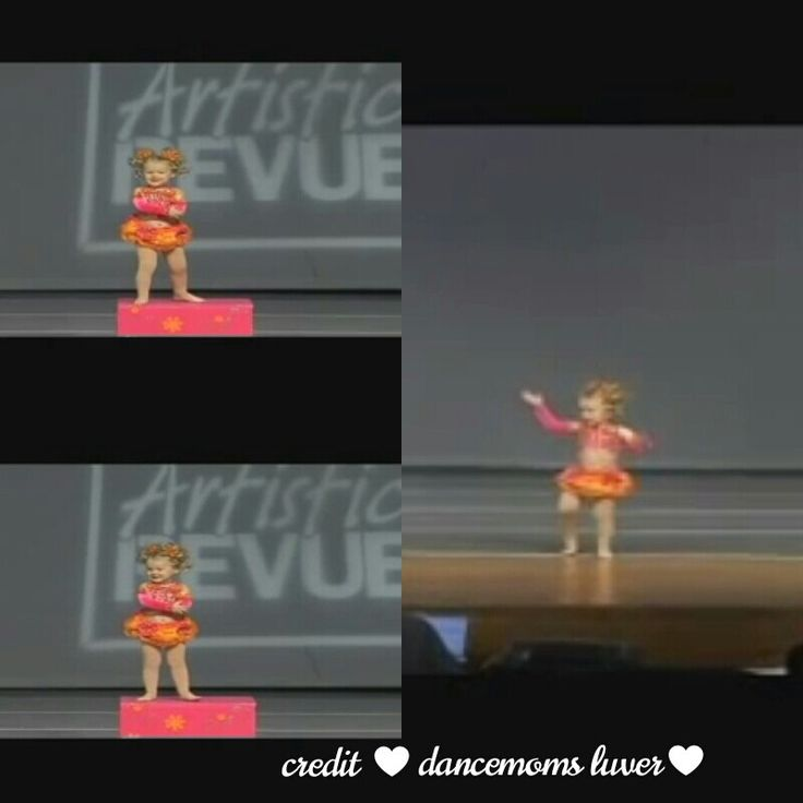 Jojos first dance age 2 credit ♥ Dancemoms luver♥