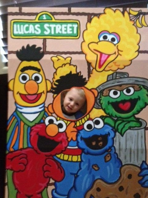 Lets Be Ernie Sesame Street 6 Character Photo Party Cut-Out Prop Standee