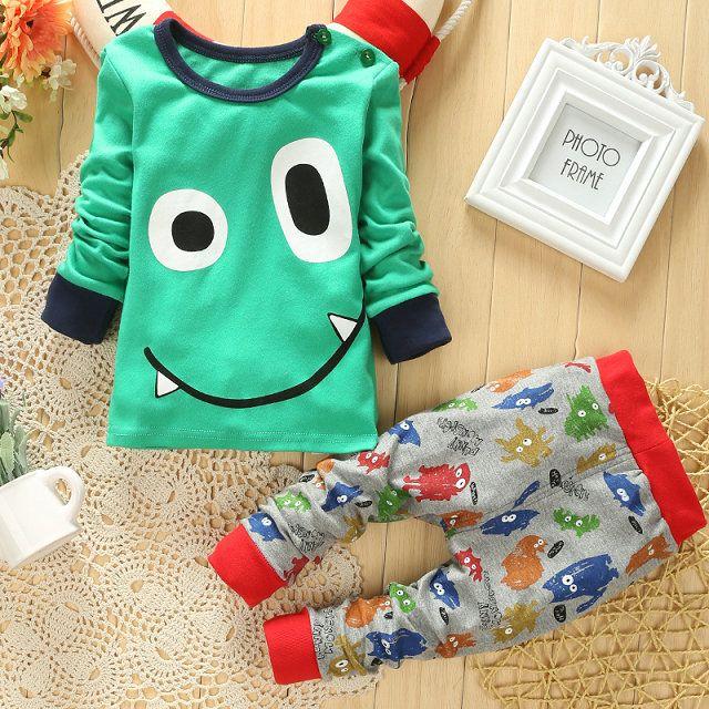0-4 лет мальчик 2 девочки и 3 детей носить пижамы весной в детском Qiuyiqiuku ребенок спортивный костюм костюм - Taobao