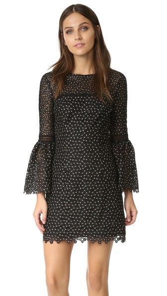 Cynthia Rowley Ditzy Floral Bell Sleeve Dress