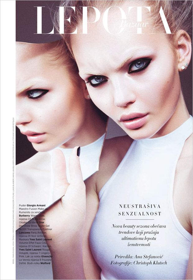 Marlen Nohl for Bazaar Serbia by Christoph Klutsch
