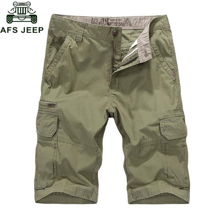 AFS JEEP Men Cargo Shorts Summer bermuda homme Male Casual Fashion Shorts Breathable Thin Pantalon homme Mens Shorts