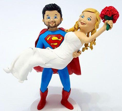 Superman Wedding Cake Topper