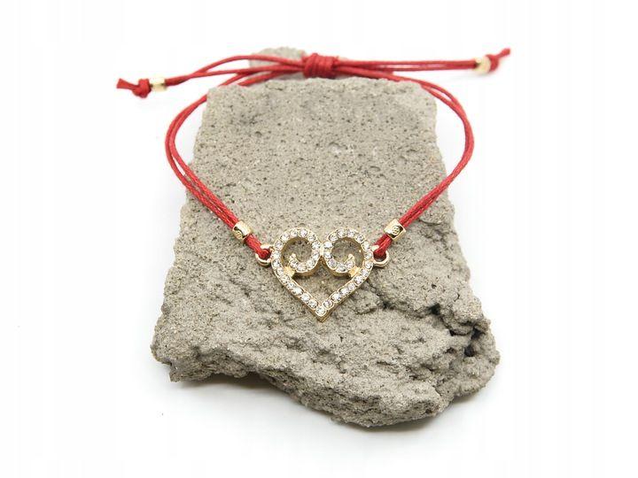 Bransoletka Sznurkowa Czerwona Serce Cyrkonie Boho 7808048544 Oficjalne Archiwum Allegro Crochet Necklace Jewelry Necklace