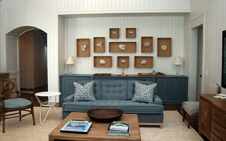 White Painted Paneling/ Slate Blue Color & Cream/tan Floor