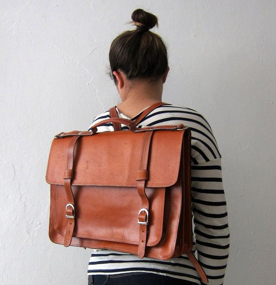Backpack leather satchel