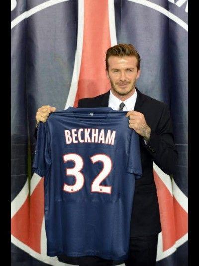 Le maillot de David Beckham au Psg par Jo
