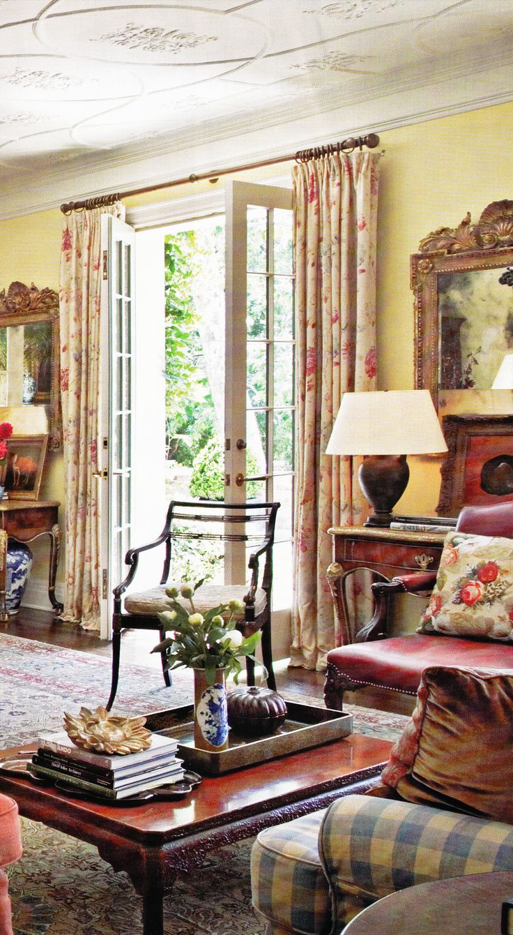 436 best designer michael s smith images on pinterest for Country cottage interior design ideas