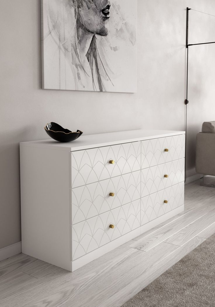6 Fun Ways to Upgrade Your IKEA Malm Dresser #Kleiderschrank ikea malm These 6 IKEA Malm Hacks Will Solve Your Bedroom Storage Problems