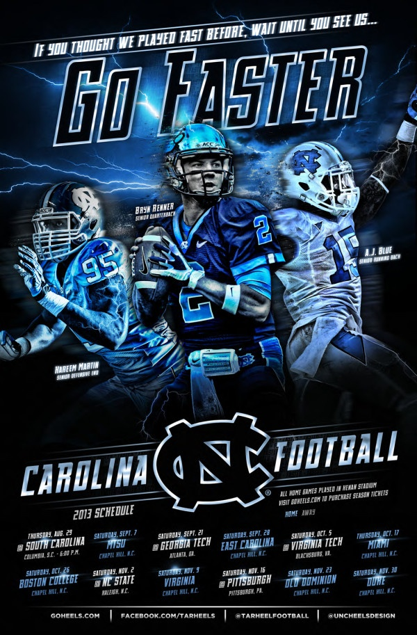 Unc basketball 2014 poster