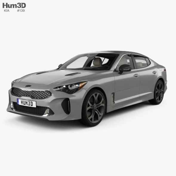 Kia Stinger Gt With Hq Interior And Engine 2017 Fully Editable And Reusable 3d Model Of A Car 3d 3dmodel 3ddesign 2017 In 2020 Kia Stinger Kia Sports Cars Luxury