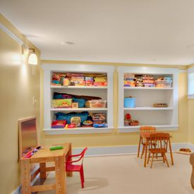 Love The Built Ins They Add Function And Character To Basement JAS