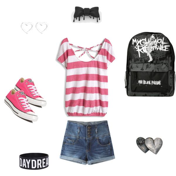 pink and black outfit by pinkmitta on Polyvore featuring polyvore fashion style Converse Marc by Marc Jacobs