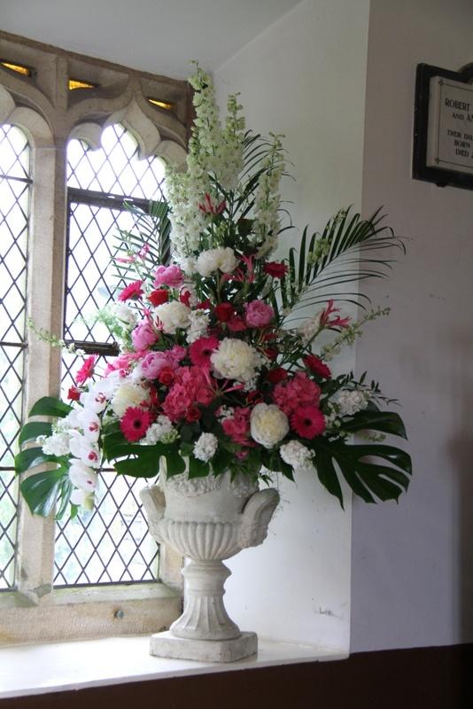 Flower Design Events: Hot Pink Church Pedestal