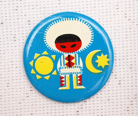 """Vintage USSR pin. Very """"It's a Small World"""""""