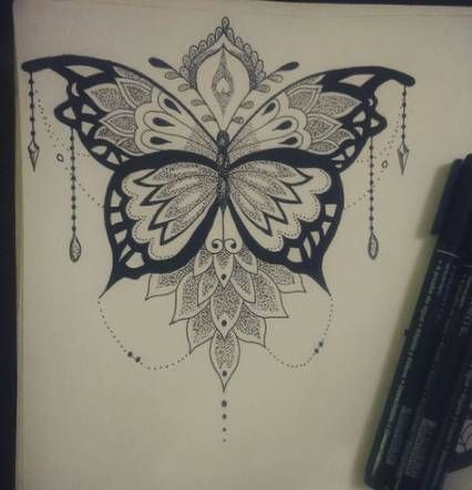 24 Ideas Tattoo Butterfly Mandala Ideas