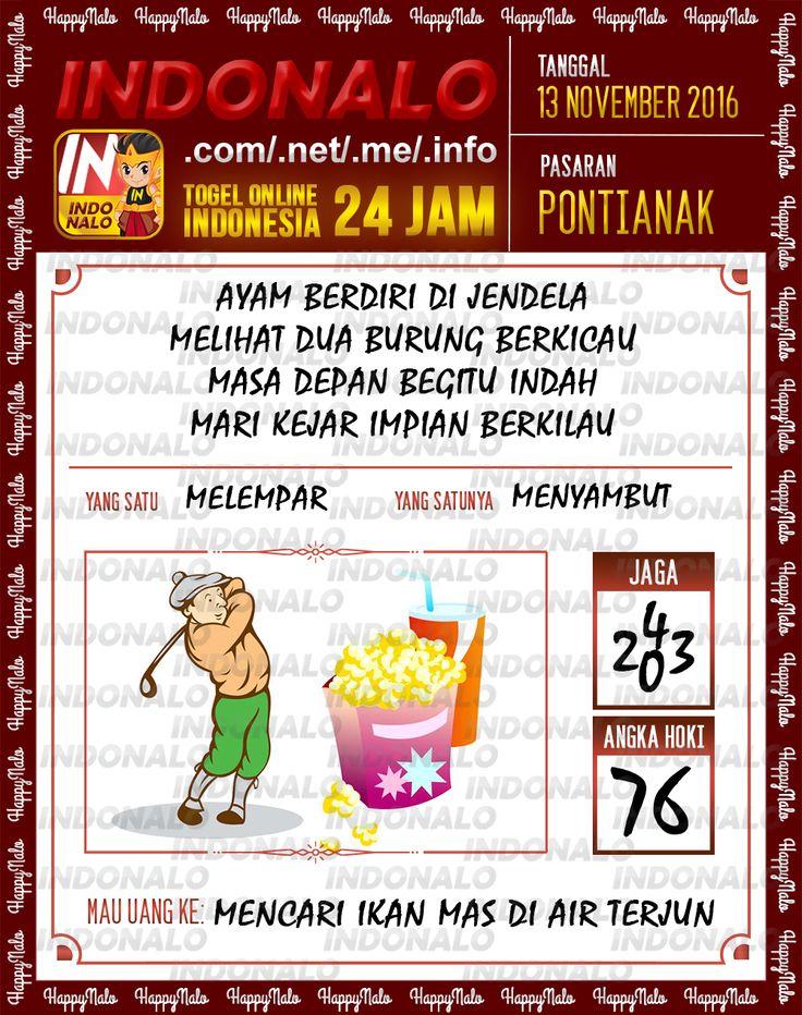 Angka Jaga 3D Togel Wap Online Live Draw 4D Indonalo Pontianak 13 November 2016