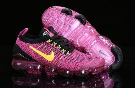 b84e662349 Nike Air Vapormax Flyknit 2019 Mens Womens Running Shoes Black Vivid Pink  Yellow AJ6900-105
