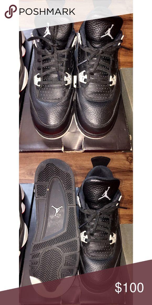 "Air Jordan 4 Retro Air Jordan 4 Retro ""Oreo""- Size 7y Jordan Shoes Sneakers"