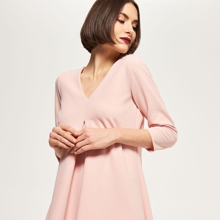 Rozkloszowana sukienka, RESERVED, QZ100-03X