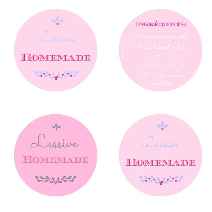 printable lessive homemade etiquette
