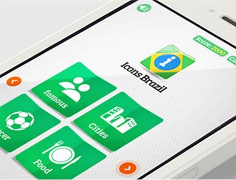 Uma das telas do aplicativo Icons Brazil.