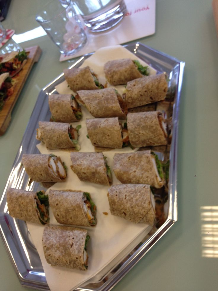 Wholemeal wraps filled with southern fried chicken, mustard and maple glaze, salad and ranch dressing.