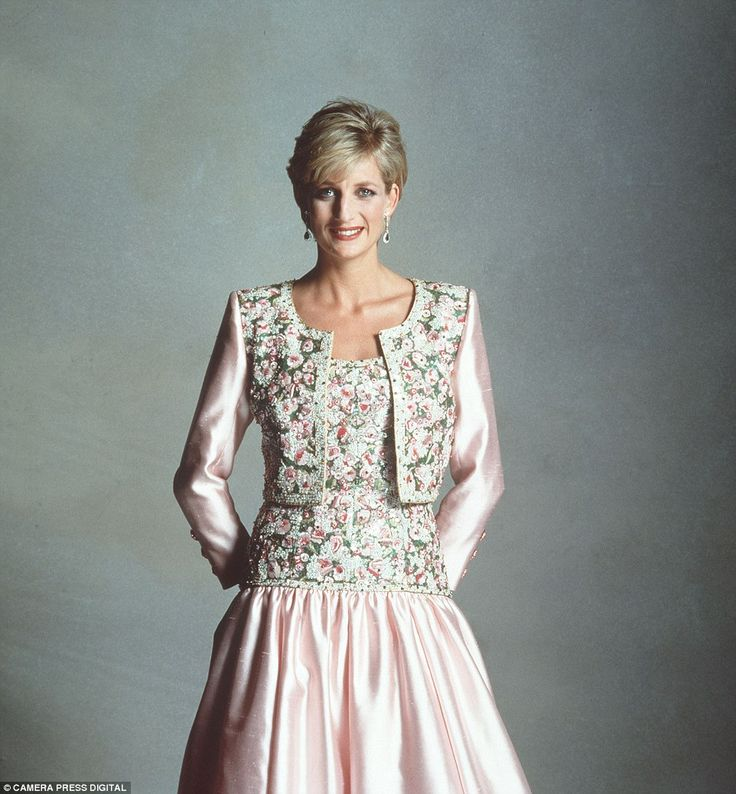 The princess posed in a series of designer gowns for the photographer in this candid collection in 1992