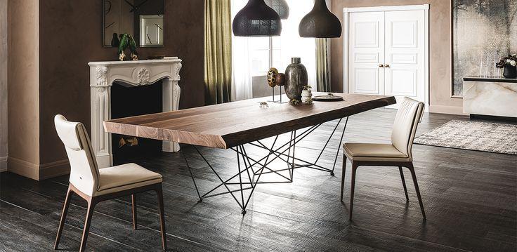 Gordon Deep Wood table by Cattelan