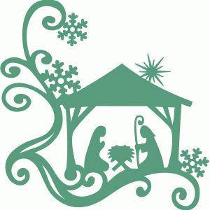 Silhouette Design Store - View Design #70876: nativity corner
