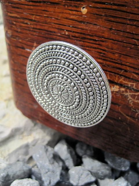 round drawer knob made of silver toned metal with rope pattern mk106 on etsy
