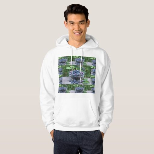 Chef Kitchen Cuisine Blueberries  Veggie Recipe Hooded Pullover