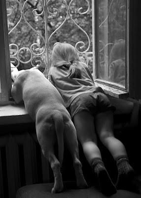 girl and dog - dogs are a girls' REAL best friend!  :)