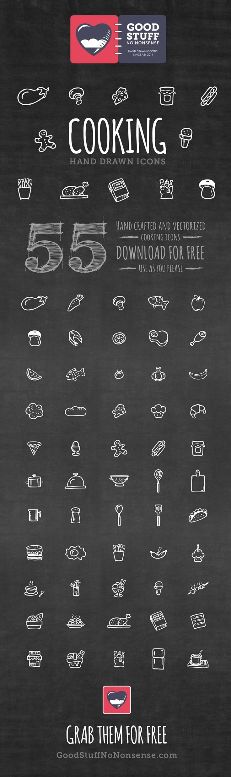 Free Cooking Icons - Hand Drawn Icons