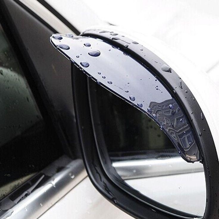 Mobil yang universal Rrain Perisai Fleksibel Peucine mobil Belakang Cermin Penjaga Kaca Spion Rain Naungan styling aksesoris