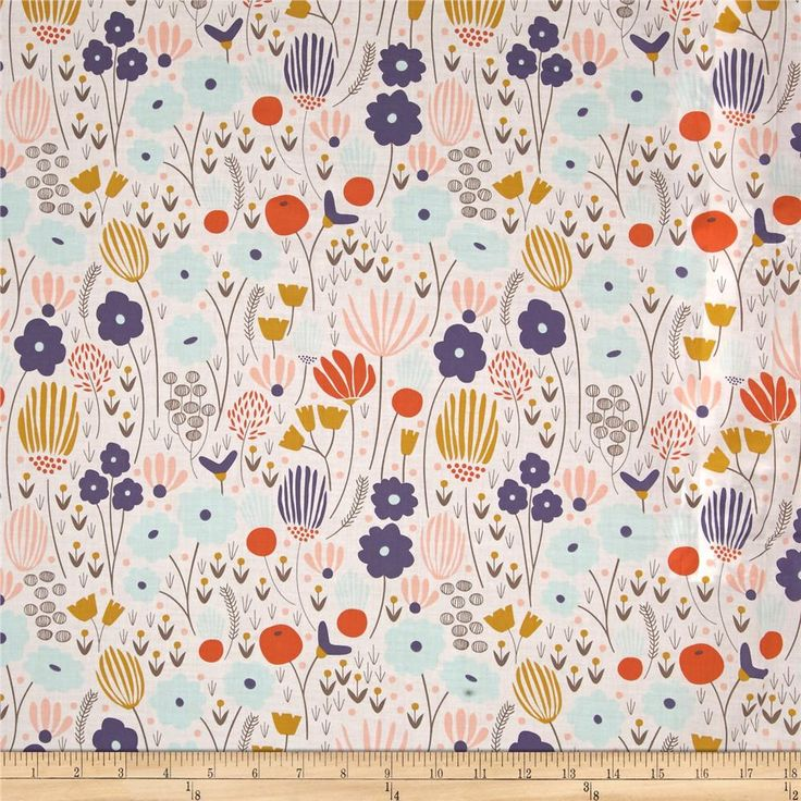 Designed by Elizabeth Olwen for Cloud 9 Fabrics, organic cotton fabric is perfect for quilting, apparel and home decor accents. This certified 100% organic cotton print meets the GOTS certification; only low impact, organic dyes were used in this product. This fabric is very lightweight and sheer. Colors include white, grape, orange, grey, mint blue, gold and pink coral.