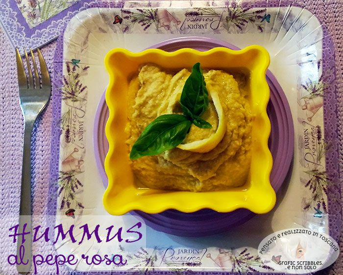 Hummus pepe rosa e limone di Amalfi http://graficscribbles.blogspot.it/2016/05/hummus-pepe-rosa-e-limone-di-amalfi.html #hummus #ceci #ricette #cucinaetnica #limoni