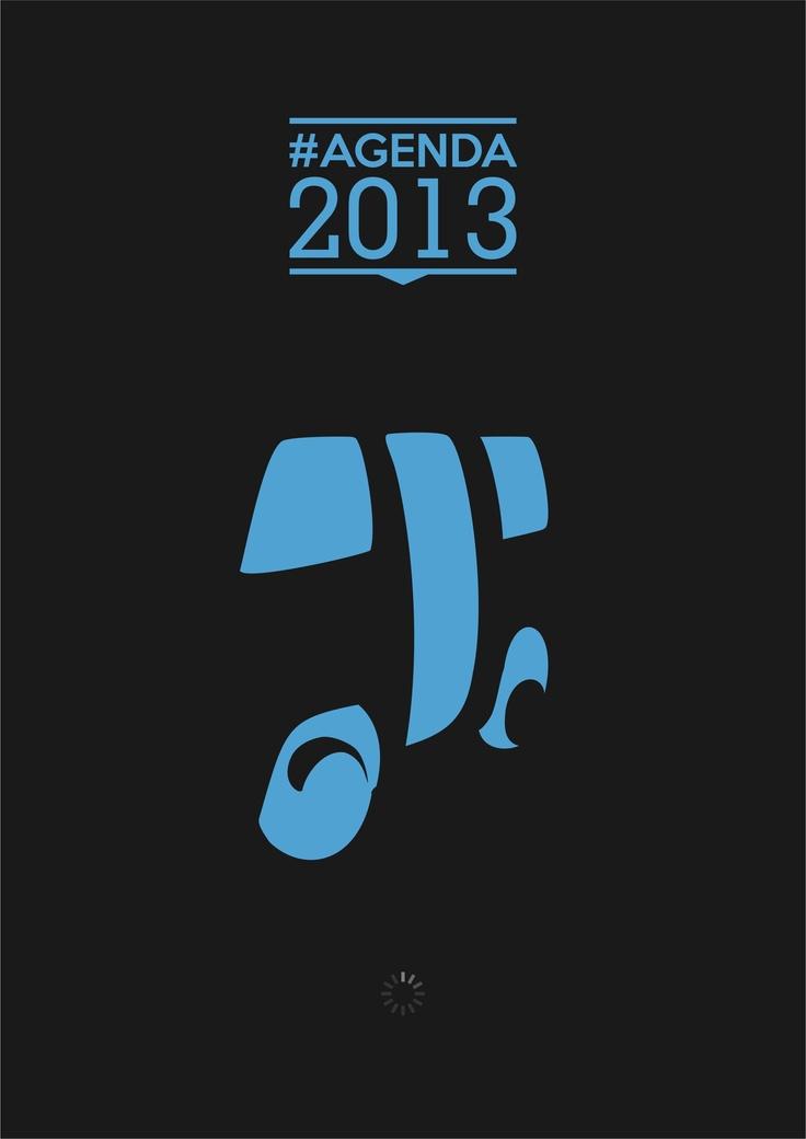 Desain Sampul #Agenda2013Supet Warna Hitam
