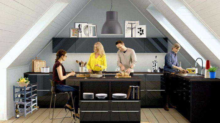 einrichtungsideen küchenblock ikea modulküche küchenmöbel