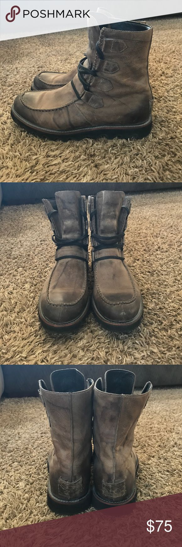 Men's Sorel Boots Men's Size 11 distressed taupe lace up boots. Only worn a couple of times, in perfect condition! Sorel Shoes