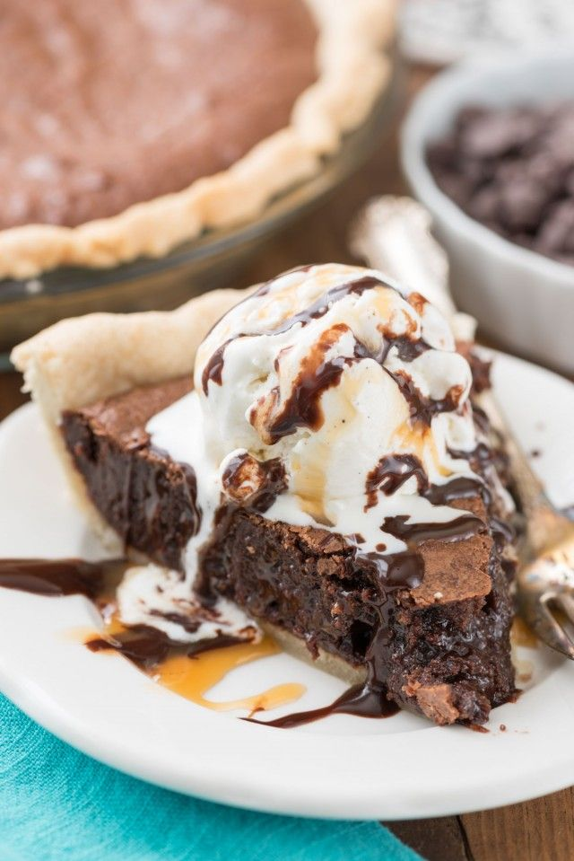 The BEST Brownie Pie {from scratch}