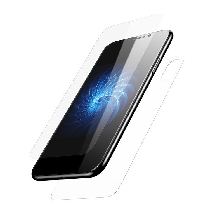 Baseus 0.2mm 3D Arc Edge Front Rear Tempered Glass Film Screen Protector for iPhone X Sale - Banggood.com