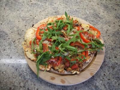 Rezept: Pfannen-Pizza vegetarische Variante - Low Carb