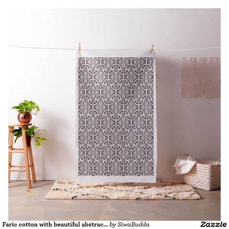 Faric cotton with beautiful abstract pattern fabric
