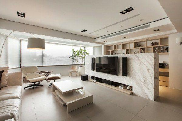 freistehend wohnzimmer raumteiler marmor massiv