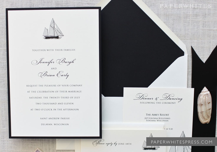 Sailboat Wedding Invitations: Sailboat Nautical Theme Wedding Invitations