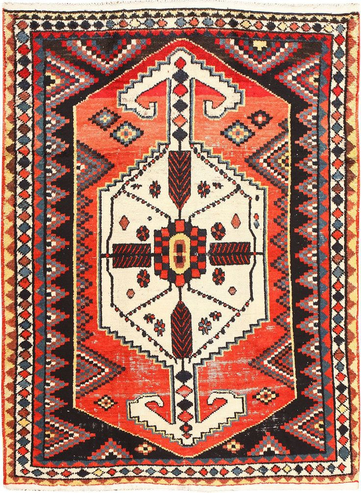 Vintage Persian Shabby Chic Gabbeh Rug 48972 Detail/Large View
