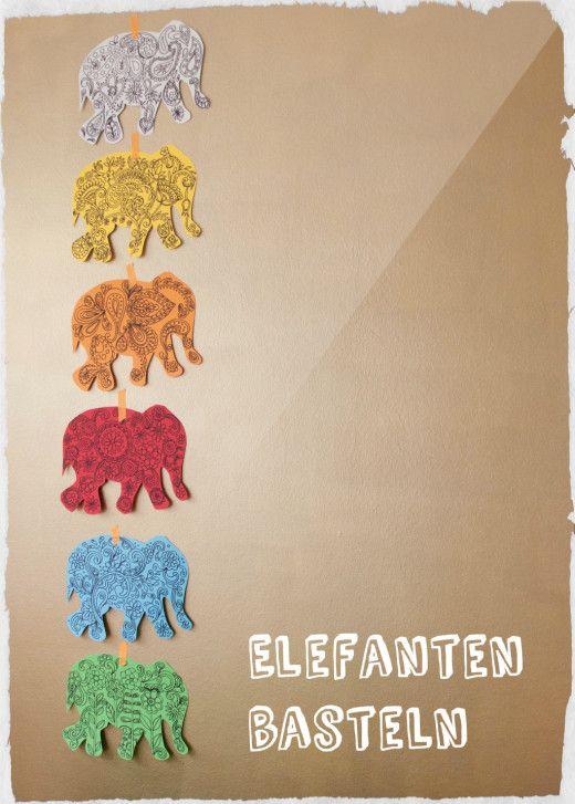 Elefant basteln - mit Anleitung   Meine Svenja